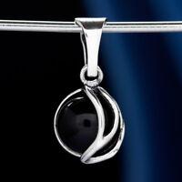Onyx Silber 925 Anhänger Sterlingsilber Damen Schmuck A559