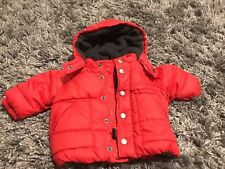 Baby Gap Infant  Boys Red Warmest Jacket Puffer Coat 0-6 Months Gently Used
