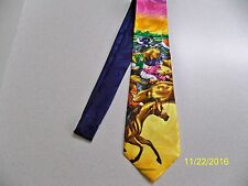 "Equestrians! Horse racing, Jockey, ""at the derby"" theme men's necktie New!!  #2"