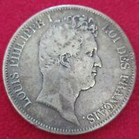 Moneda Francia Plata 5 francos Louis Philippe I 1831-A trancher- relief