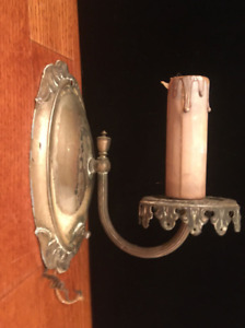 Antique Metal Wall Sconce 1 Arm Candle Light Fixture