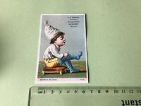Tibbals Toys & Carriages  Victorian American Advertising Trade Card Ref 49422