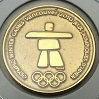 2010 Canada Vancouver Olympic Gold Plated RCM Royal Canadian Mint Token C905