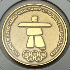 2010 Canada Vancouver Olympic Gold Platted RCM Royal Canadian Mint Token C905