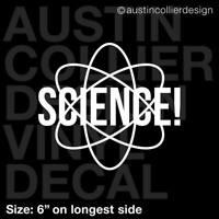 SCIENCE ! Vinyl Decal Car Window Truck PC Laptop Sticker - Scientist Gift