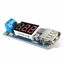 DC-DC 4.5-40V to 5V 2A Step-down LED Voltmeter USB Buck Voltage Converter C2F8