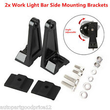 1 Pair Car LED Work Light Bar Side Mounting Bracket Heavy Duty Die-cast Aluminum