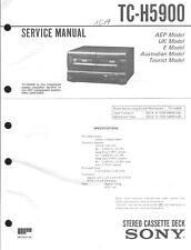 Sony Original Service Manual  für TC-H 5900