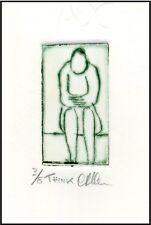 Meditation - ORIGINAL ETCHING Signed Limited-Edition Miniature Art Print