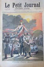 MARIANNE PEUPLE PARLONS D'AUTRE CHOSE PRISON ETAMPES GRAVURE PETIT JOURNAL 1893