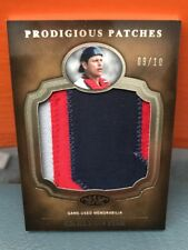 2012 Topps Tier One Prodigious Patches Carlton Fisk #'d 10