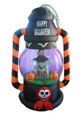 Halloween Inflatable Lighted Ghost Pumpkins Outdoor Yard Decoration Prop LED