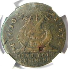 1787 Fugio Cent 1C Colonial Coin (Club Rays) - NGC VF Detail - Rare Coin!