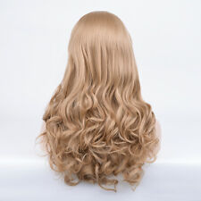 Women Ariel hair wig long brown blonde curly porm bounce wave wigs + 2 pony tail
