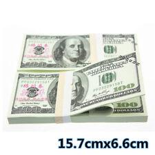 100x $100 Bills Best Novelty Movie Prop Play Fake Currency Joke