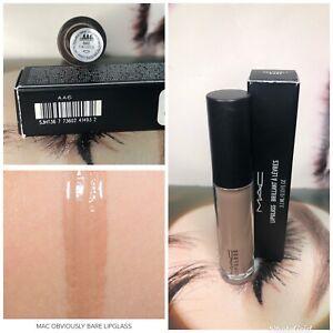 NIB MAC Cosmetics ~ OBVIOUSLY BARE ~ Lipglass lip gloss! DISCONTINUED
