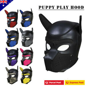 Puppy Pup Play Hood BDSM Head Mask Dog Bondage Fetish Adult Gay Sex Toy Cosplay
