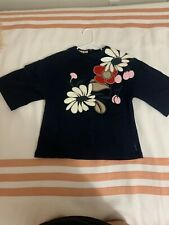 gorgeous marni mini me navy top with floral applique 8 kids in excellent comditi