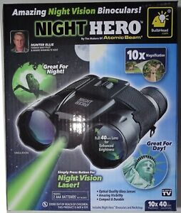 Night Hero 10x40 Night Vision Binocular 4 Hunting, Hiking+ -NIB