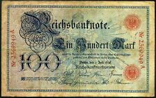 More details for germany. 100 mark, 2569949a, 1-7-1898, fine.