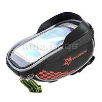 RockBros Bike Bicycle Handlebar Bag for 5.5 Touch Screen Mobile Phone Bag Red