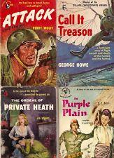 C757 Lot Of 4 Vintage War Paperback Books..