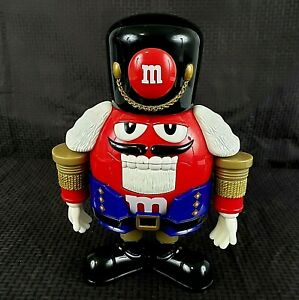 M&Ms Candy Dispenser Nutcracker Sweet Limited Edition Red Black Candy Christmas