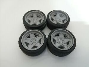 1/18 Scale 5 spoke dished Wheels tyres tunning styling 3d Printed