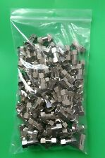 (LOT OF 100) F Male to F Male Connector - USA Seller