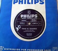 """TAGES BLOND 7"""" PROMO I Pick Up The Bus SWEDISH BEAT Psych 1969 SOUTHAMERICA Ed."""