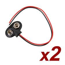 X2 Conectores bateria adaptador pila 9V Battery Arduino, prototipos, proyectos