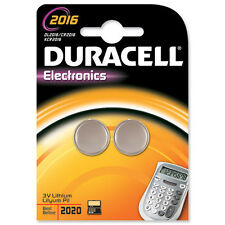 2 X 3v Duracell Lithium Coin Cell Button Battery Cr2016 2016 Dl2016 Br2016