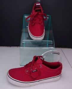 Red Vans Sneakers Sz 4 Youth