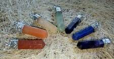 Seven Chakra Stone Pencil Shape Pendant 7 Pieces