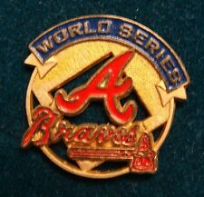 Atlanta Braves World Series Press Pin 1992 vs Blue Jays