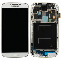 DISPLAY TOUCH SCREEN per SAMSUNG GALAXY S4 GT i9505 +FRAME COVER SCHERMO BIANCO