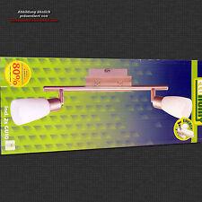 Briloner Deckenleuchte 2922/022 Metall chrom Echtglas weiß inkl. 2x GU10 9W