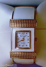 Reloj de mujer marca Bay Studio Quartz, correa de acero inoxidable flexible