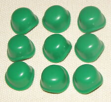 LEGO LOT OF 9 GREEN ARMY MAN SOLDIER HARD HATS HELMETS PIECES
