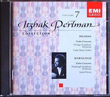 Itzhak PERLMAN: KORNGOLD BRAHMS Violinkonzerte GIULINI PREVIN CD Violin Concerto