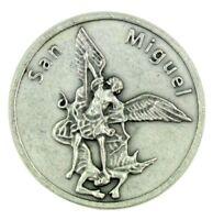 San Miguel Saint St Michael the Archangel Pocket Token with Prayer, 1 1/8 Inch
