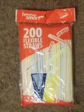 Bpa-Free Long Flexible Thin Disposable Striped  Bendy Plastic Drinking Straws