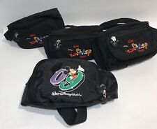 Walt Disney World Fanny Packs (Lot of 4) Black, Character Logo