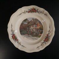 Assiette plate céramique Obernai faïence Sarreguemines déco LOUX France N4633