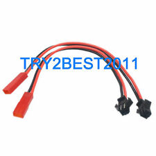 2pcs JST Female to SM Male Plug Connector Battery Conversion Cable RC 20AWG