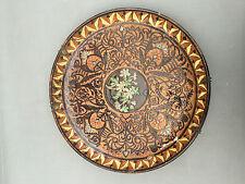 antico grande piatto da parete nel terreno decorativo stile THUN francese