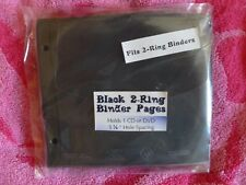 Black 2-Ring Binder Page for CD/DVD lift up flap 25 pack premium quality