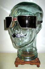 Antique WWII Cesco Aviatior Goggles Safety Sunglasses Pilot Vtg Retro Steampunk