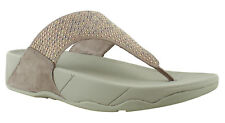 New FitFlop Womens Beige T-Strap Sandals Size 7