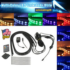 Rgb Multicolor Led Neon Glow Strip Under Car Light Tube Underbody Kit Fit Dodge (Fits: Neon)